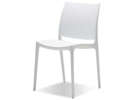 Mobital Vata White Stackable  Dining Side Chair (Sold in 4)