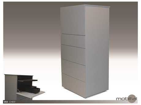 Mobital Vex Matte Stone Five-Drawer Chest