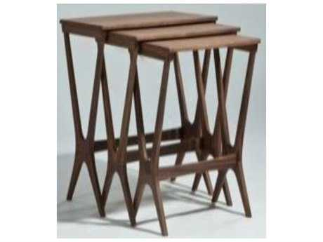 Mobital Wishbone Solid American Walnut Nesting Tables (Set of Three) MBWCOWISHMWAL
