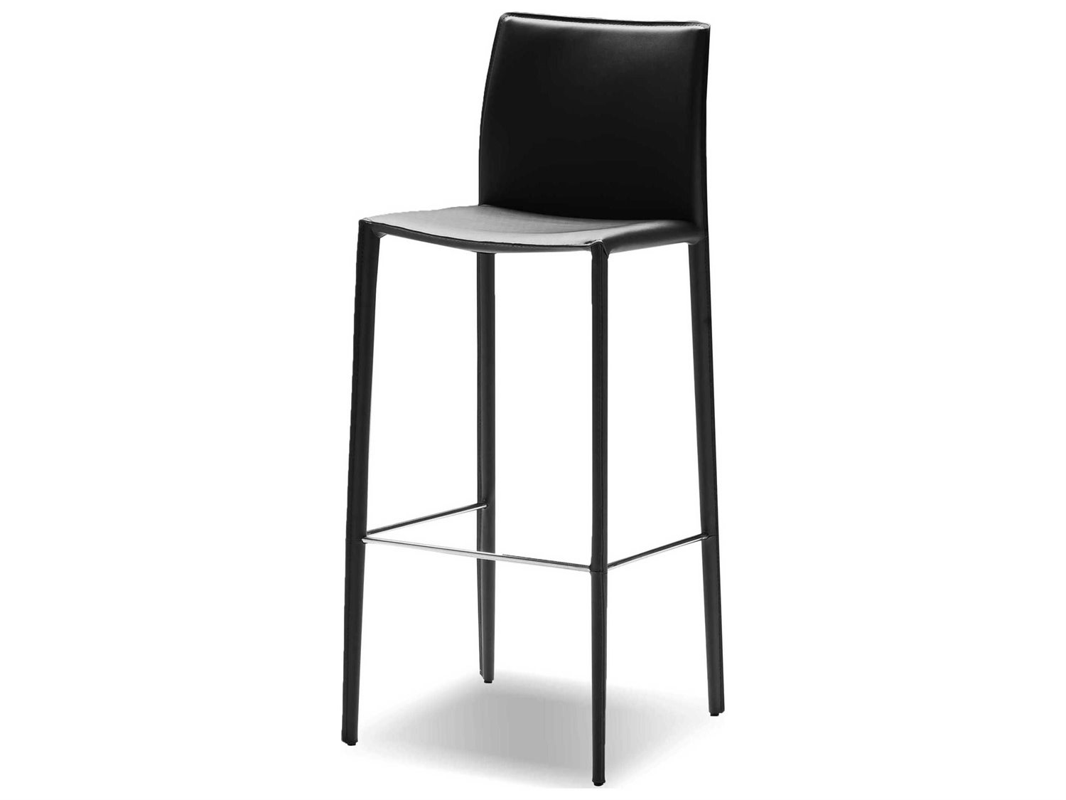 Miraculous Mobital Zak Black Leather Bar Stool Sold In 2 Pabps2019 Chair Design Images Pabps2019Com