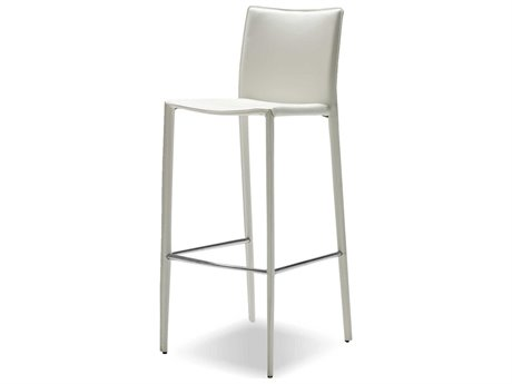 Mobital Zak Pure White Leather Bar Stool (Sold in 2) MBDBSZAKBWHIT