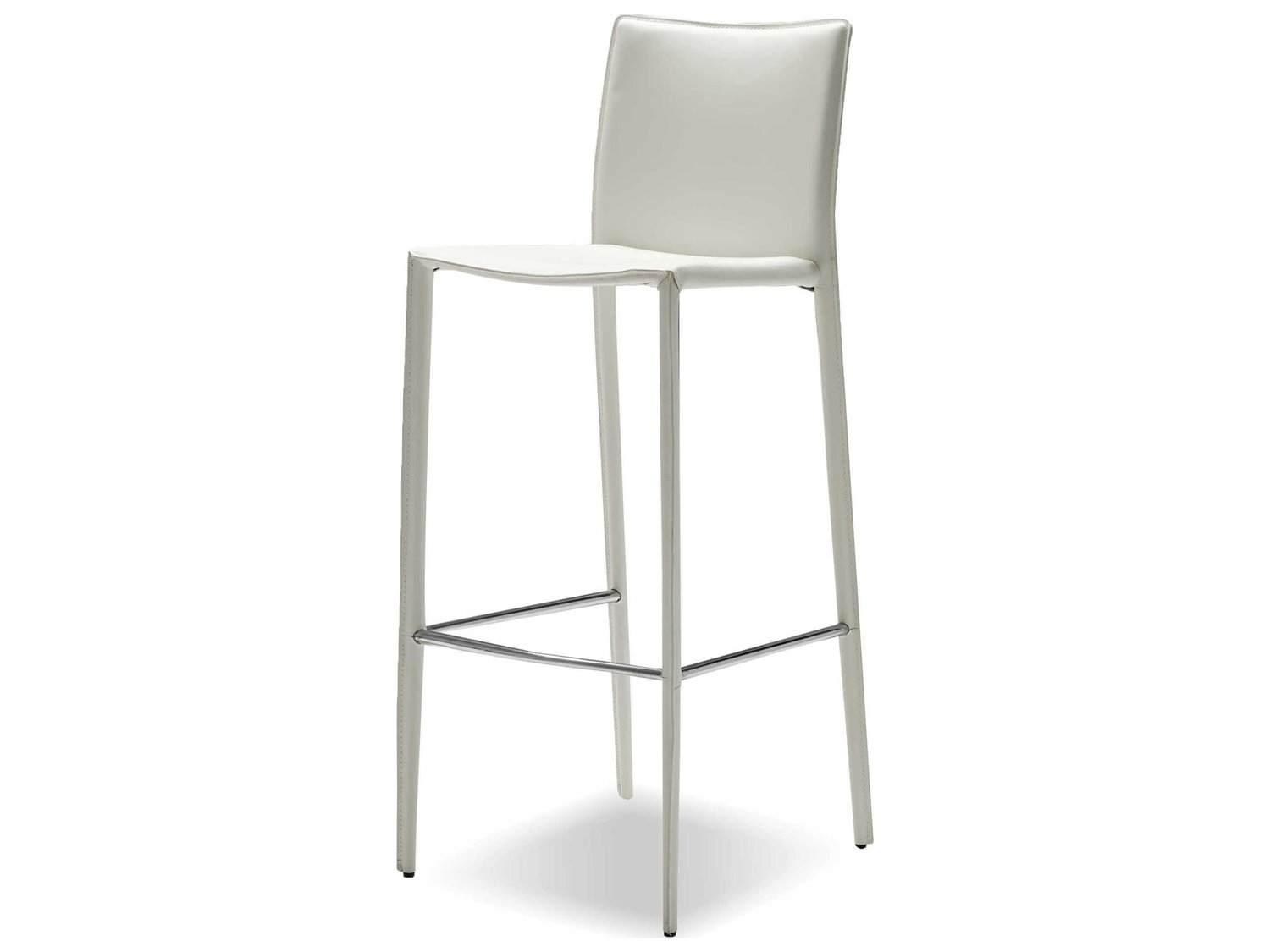 Magnificent Mobital Zak Pure White Leather Bar Stool Sold In 2 Pdpeps Interior Chair Design Pdpepsorg