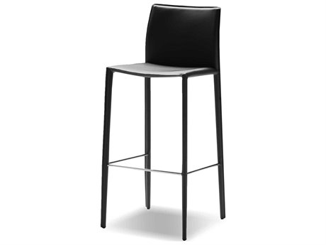 Mobital Zak Black Leather 18'' Counter Stool (Sold in 2) MBDCSZAKBBLAC