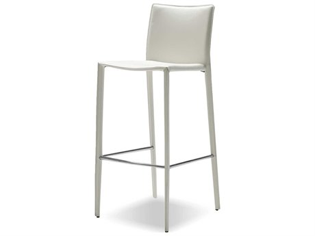 Mobital Zak Pure White Leather 19'' Counter Stool (Sold in 2) MBDCSZAKBWHIT