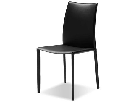 Mobital Zak Black Leather Dining Chair (Sold in 2) MBDCHZAKBBLAC