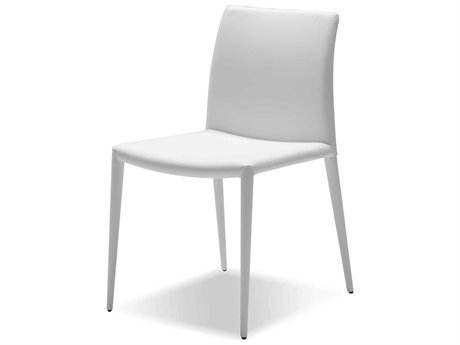Mobital Zeno White Leatherette Dining Chair (Sold in 2)