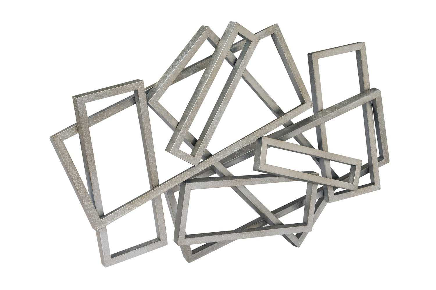 Rectangles Silver Metal Wall Decor