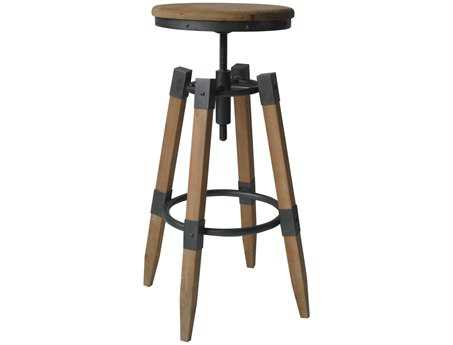 Moe's Home Collection Quad Pod Natural Adjustable Stool