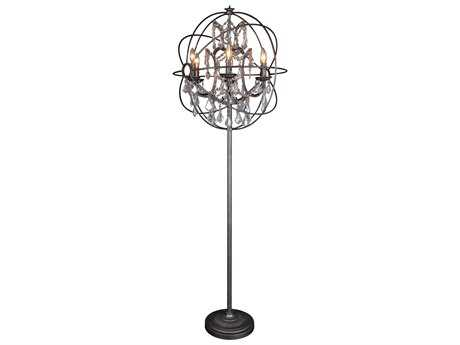 Moe's Home Collection Adelina Brown Floor Lamp with Chinese Crystal MERM101320
