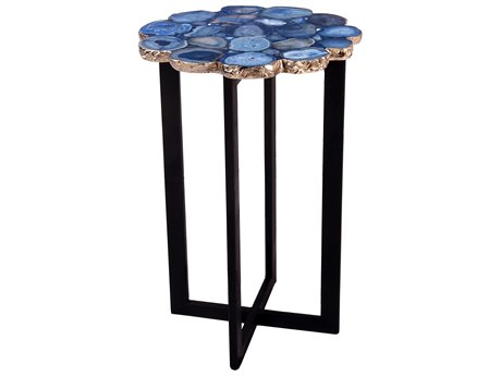 Moe's Home Collection Agate Blue / Black 12'' Wide End Table