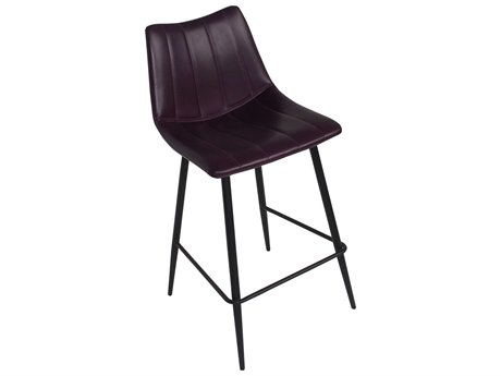 Moe's Home Collection Alibi Set of 2 Purple Bar Stool MEUU100310