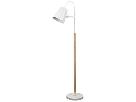 Moe's Home Collection Arctica White One-Light Floor Lamp
