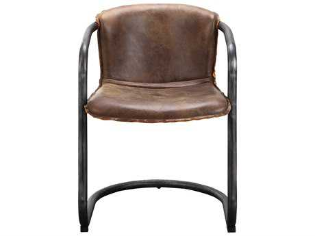 Moe's Home Collection Benedict Light Brown Leather Dining Chair (Set of 2) MEPK104803