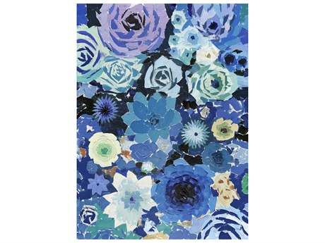 Moe's Home Collection Blue Flowers Painting