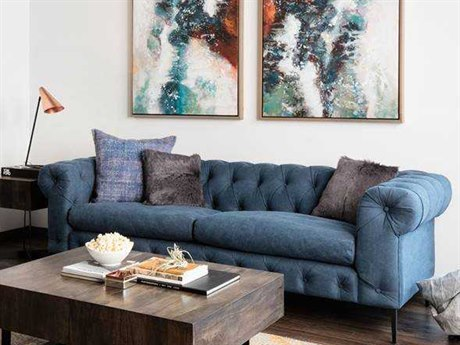 Moe's Home Collection Canal Blue Sofa MEFN100526