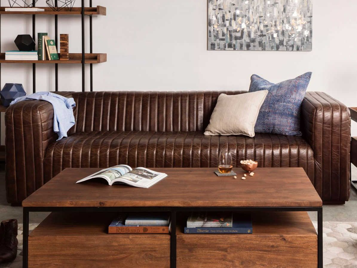 Moe S Home Collection Castle Brown Sofa
