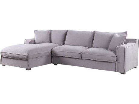 Moe's Home Collection Chill Dark Grey Sectional Sofa with Left Arm Facing Chaise