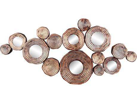Moe's Home Collection Circle Cluster Gold Wall Decor MEHW105132