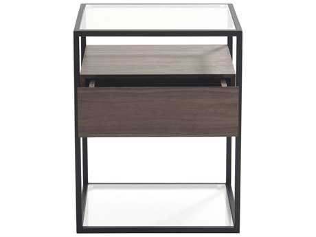 Moe's Home Collection Claro 17'' Square Walnut Side Table