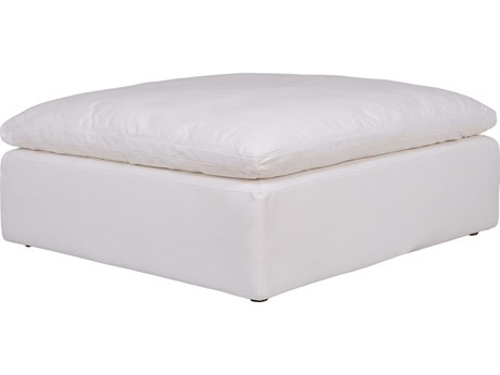 Moe's Home Collection Clay Cream White Ottoman