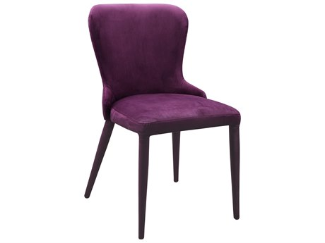 Moe's Home Collection Cleveland Purple Side Dining Chair (Set of 2)