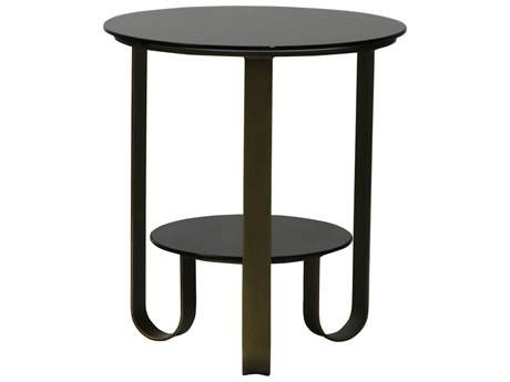 Moe's Home Collection Cole Brass 22'' Round Side Table MEVL101143