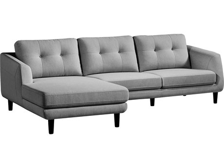 Moe's Home Collection Corey Dark Grey Left Sectional MEMT100225L