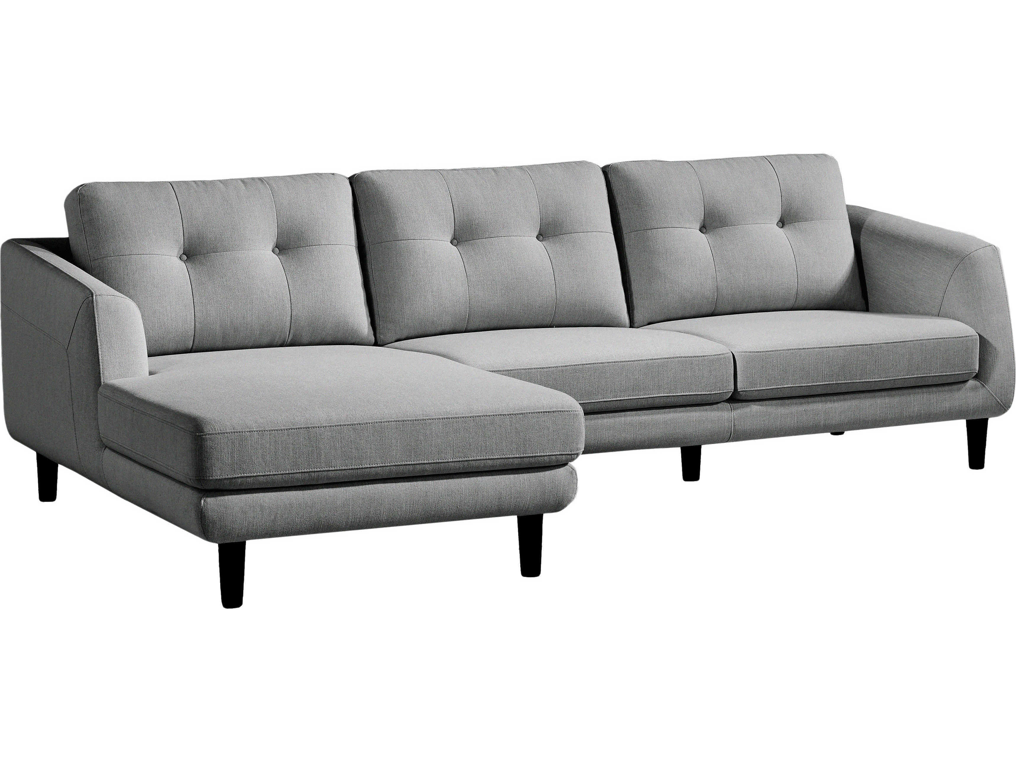 Moe S Home Collection Corey Dark Grey Left Sectional