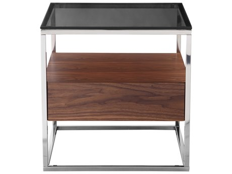 Moe's Home Collection Cubix Dark Brown 22'' Square Side Ta+AM8+AM75 MEER204420