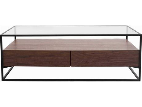 Moe's Home Collection Dallas Brown 47.2'' x 27.6'' Rectangular Coffee Table MEAD105803