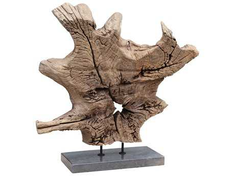 Moe's Home Collection Dax Natural Teak Sculpture MEEI104924