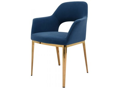 Moe's Home Collection Light Blue Arm Dining Chair