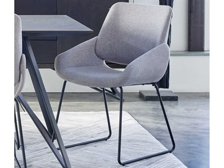 Moe's Home Collection Light Grey Arm Dining Chair