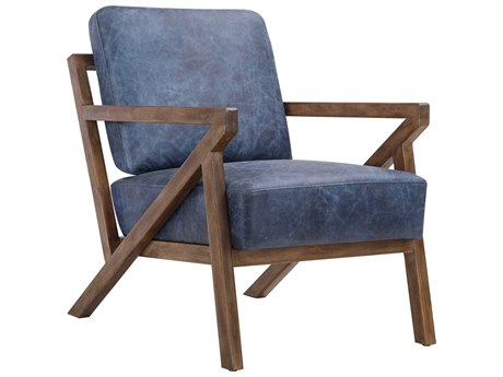 Moe's Home Collection Drexel Blue Accent Chair