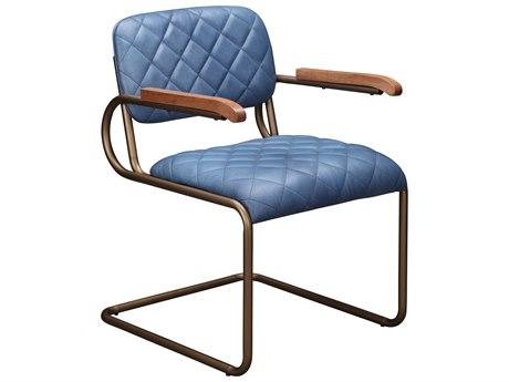 Moe's Home Collection Elias Blue Arm Dining Chair