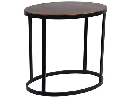 Moe's Home Collection Copper 23'' Wide Oval End Table