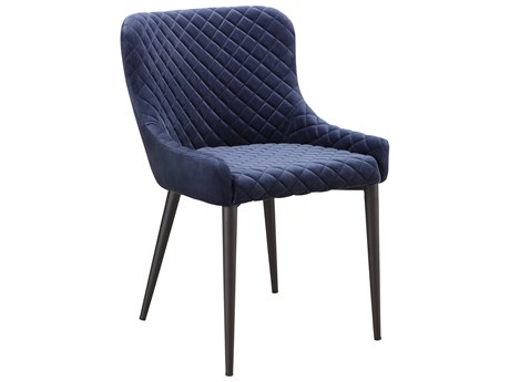 Moe's Home Collection Etta Navy Blue Side Dining Chair