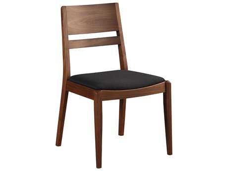 Moe's Home Collection Figaro Black Dining Chair with Walnut Legs (Set of 2) MEBC101402