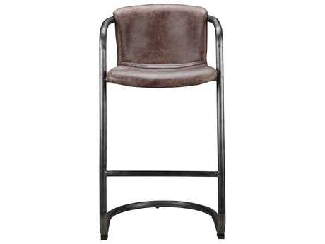 Moe's Home Collection Freeman Light Brown Leather Bar Stool (Set of 2) MEPK106003