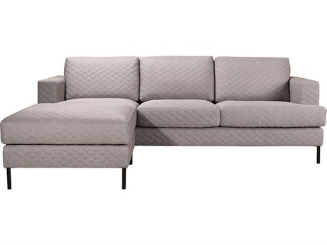 Moe's Home Collection Galiano Light Grey Sofa and Ottoman