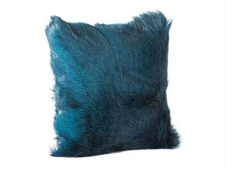 Moe's Home Collection Goat Fur Teal Pillow MEXU100326