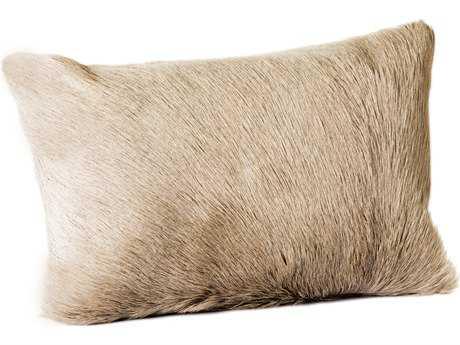 Moe's Home Collection Goat Fur Light Grey Bolster Pillow MEXU100425