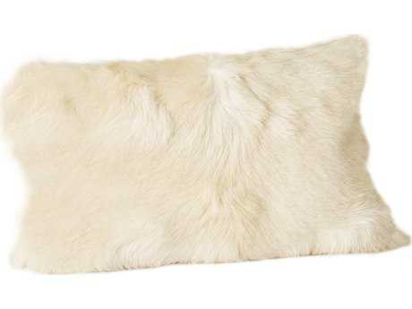 Moe's Home Collection Goat Fur Natural Bolster Pillow MEXU100424