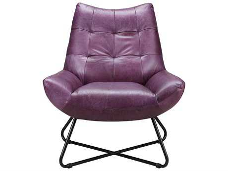 Moe's Home Collection Graduate Purple Lounge Accent Chair MEPK106310