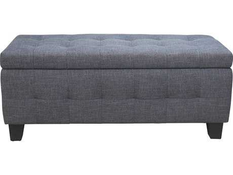 Moe's Home Collection Gretchen Grey Storage Accent Bench MERN102625