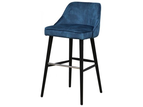 Moe's Home Collection Harmony Navy Blue Side Bar Height Stool