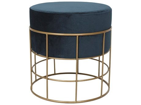 Moe's Home Collection Horton Dark Blue Accent Stool