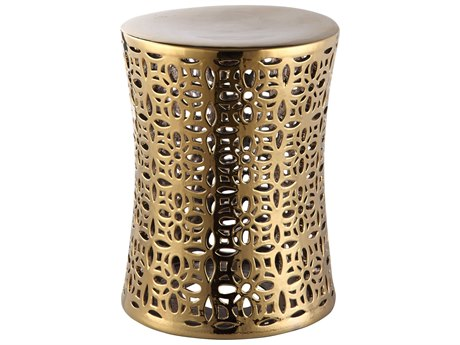 Moe's Home Collection Ionian Gold Stool MEXE101532