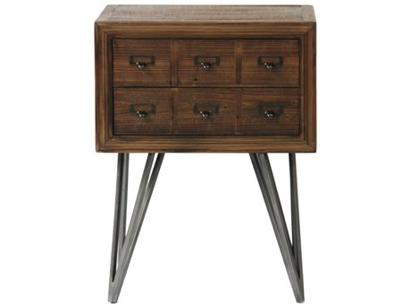 Moe's Home Collection Javadi Dark Brown 20'' Square Side Table