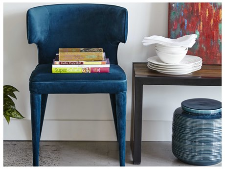Moe's Home Collection Jennaya Teal Dining Side Chair MEEH110336